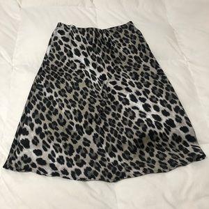 Dresses & Skirts - Leopard satin skirt